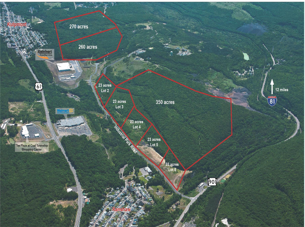 SR 901, Shamokin PA, 750 Acres, Industrial, Rail Served, KOZ