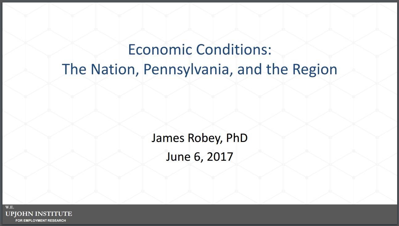 Economic Conditions Presentation - Dr. James Robey, PhD
