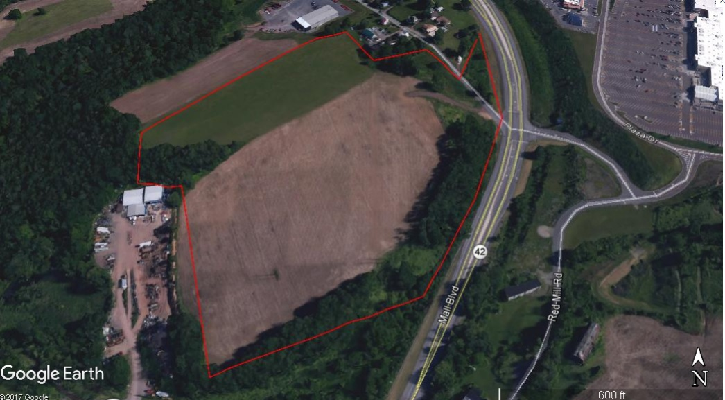 Mall Blvd, Bloomsburg PA – 48 Acres Zoned Retail and/or Light Industrial. Visible from I-80