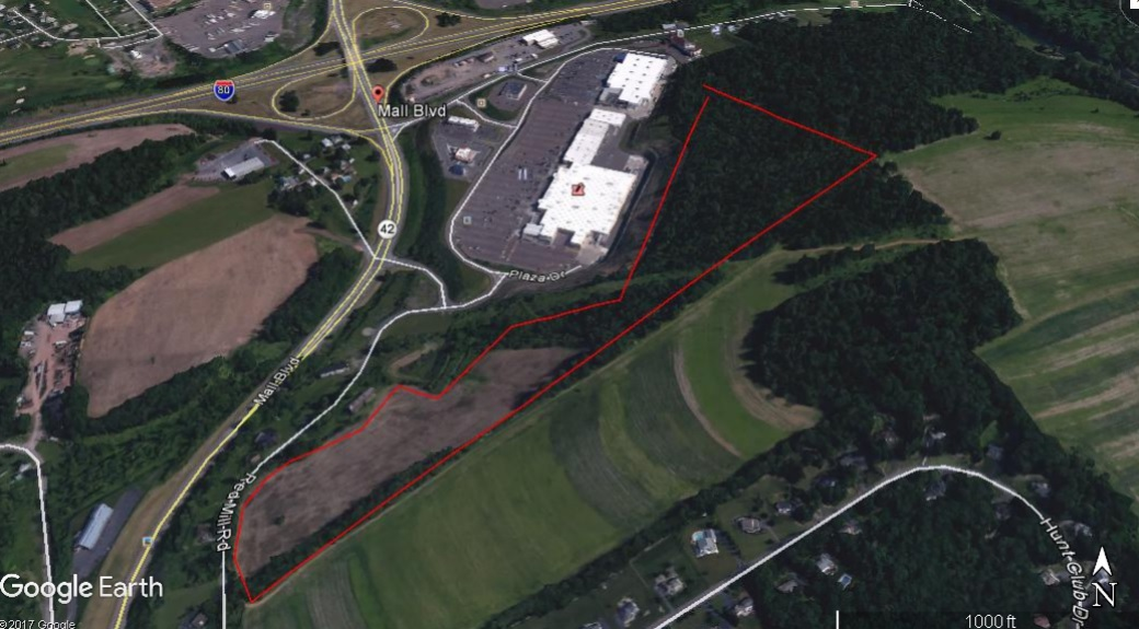 Red Mill Rd, Bloomsburg PA – 32 Acres Zoned Flex Commercial/Retail. Visible from I-80