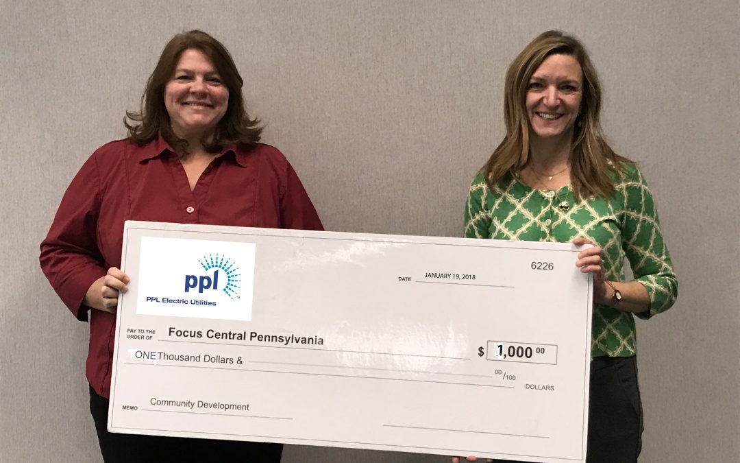 PPL ELECTRIC UTILITIES INVESTS $1,000 FOR REGIONAL GROWTH