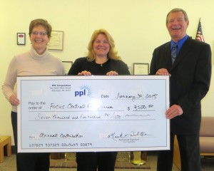 Shown left to right:  PPL Corporation Regional Affairs Director, Teri MacBride; Focus Central Pennsylvania Don Alexander, Chairman of the Board; and Lauren Bryson, Executive Director.