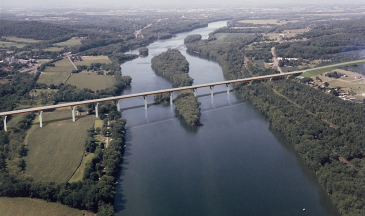 Rendering of new 4500 foot bridge across West Branch of Susquehanna River