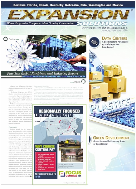 Expansion Solutions – Plastics Global Rankings & Industry Report: Focus Central PA Advertisement