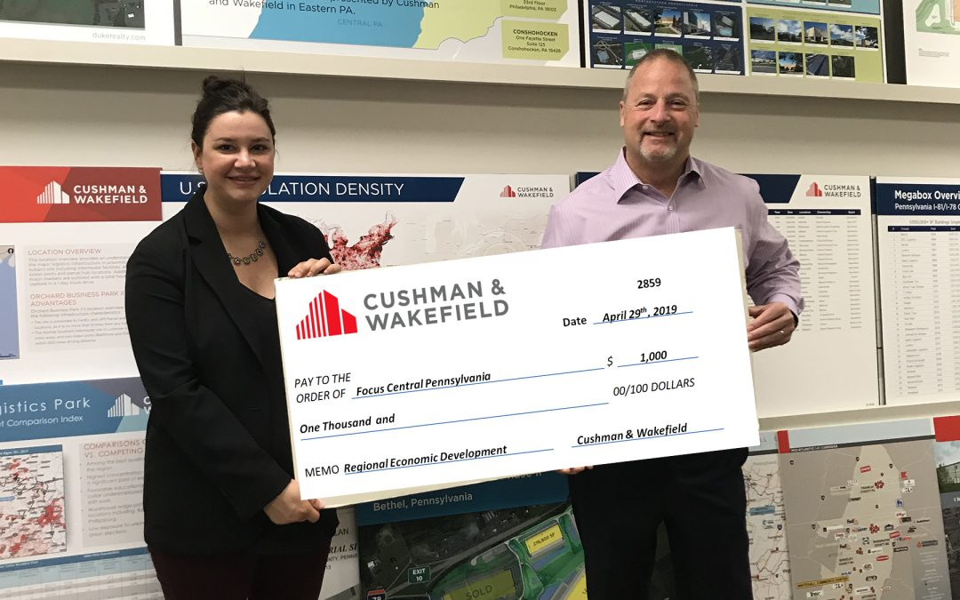 CUSHMAN & WAKEFIELD SUPPORT SMART ECONOMIC GROWTH IN CENTRAL PENNSYLVANIA
