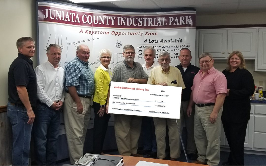 JUNIATA BUSINESS & INDUSTRY, INC. SUPPORTS REGIONAL ECONOMIC GROWTH